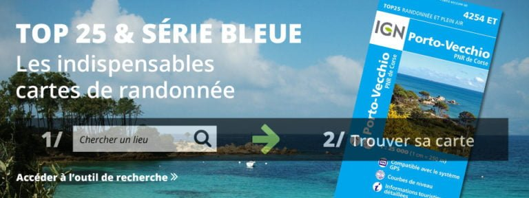 cartes IGN top 25 serie bleue