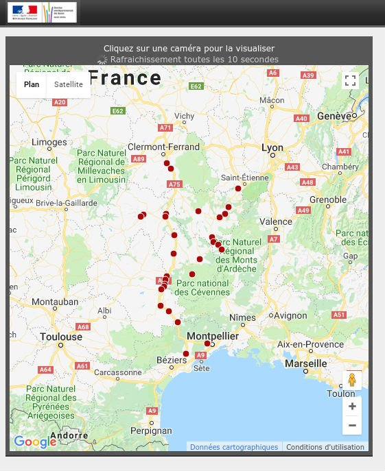 Webcam routes France sud