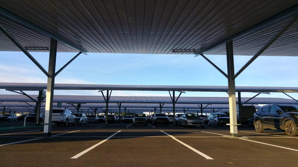 Exemple de parking photovoltaïque